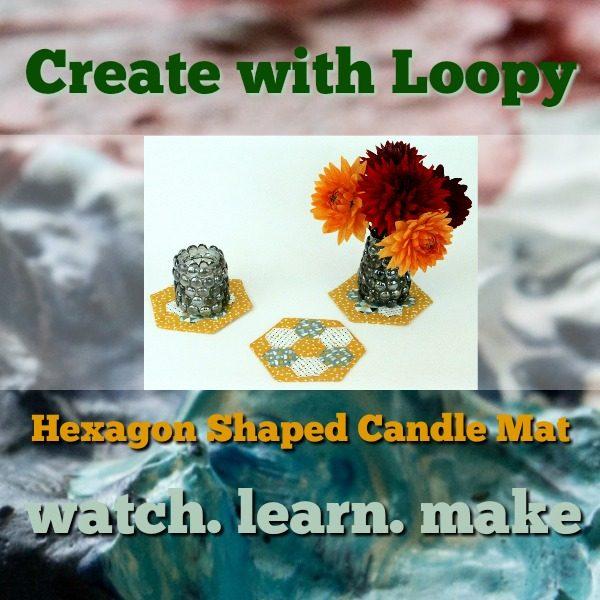 hexagon shaped candle mat class