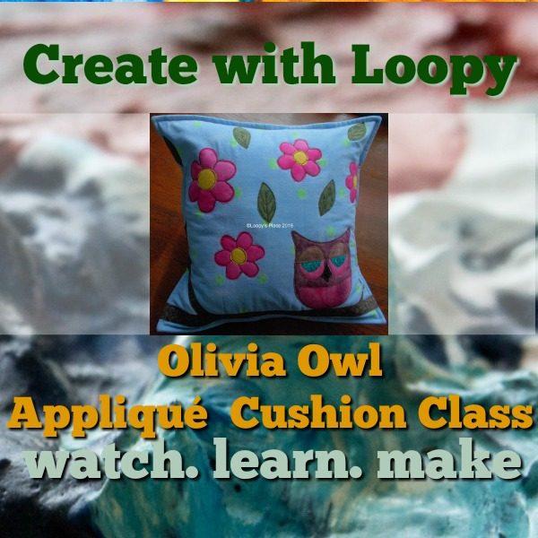 Olivia Oew-Appliqué Cushion Class