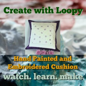 hand painted and embroidered cushion class